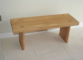 handmade hardwood bench by lost and found @ mike jones furniture
