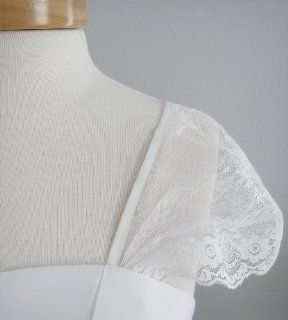 Laceeis Lace Ivory Cap Sleeves for Wedding dress Size Large Modest : Other Products : Everything Else