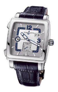 Ulysse Nardin Men's 243 92/601 Quadrato Dual Time Watch at  Men's Watch store.