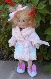 "Cloth Soft Sculpture Toddler Doll Pattern Kit with Instruction CD/238/  Holiday 14""   Make Girl Doll from Doe Suede / Vintage Chenille"