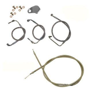 L.A. Choppers Handlebar Cable Kit For Harley Davidson Touring TBW W/ Mini Ape Hangers: Automotive