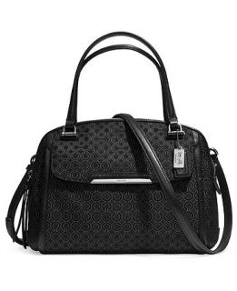 COACH MADISON SMALL GEORGIE IN OP ART PEARLESCENT FABRIC   COACH   Handbags & Accessories