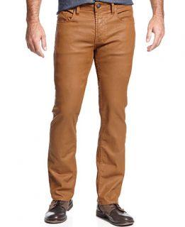 Buffalo David Bitton Jeans, Slim Fit Straight Leg, Coated Saffron   Jeans   Men