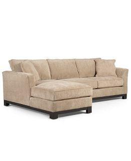 Kenton Fabric Sectional Apartment Sofa, 2 Piece Chaise 106W x 66D x 33H   Furniture