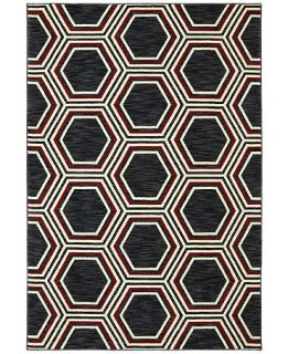 Karastan Area Rug, Studio by Karastan Panache Honey Queen Black 96 x 1211   Rugs