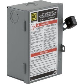 Square D by Schneider Electric L221N 30 Amp 240 volt Two Pole Indoor Light Duty Safety Switch with Neutral   Circuit Breaker Panel Safety Switches