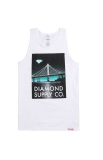 Mens Diamond Supply Co Tank Tops   Diamond Supply Co Lit Bridge Tank Top
