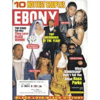 EBONY MAGAZINE (February 2003) Featuring: JAY Z & BEYONCE + USHER & CHILLI + INDIA ARIE & MUSIQ: Jr. Lerone Bennett: Books