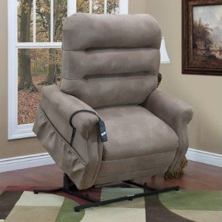 Medlift 3653 36 Series Three Way Reclining Lift Chair with Extra Magazine Pocket Fabric Stampede   Mocha Health & Personal Care