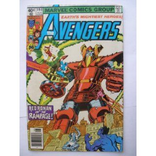 AVENGERS #198 (RED RONAN on the RAMPAGE!, VOL. 1): DAVID MICHELINIE, JIM SALICRUP, GEORGE PEREZ: Books