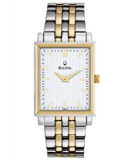 Bulova Mens Two Tone Stainless Steel Bracelet Watch 29mm 98A115   Watches   Jewelry & Watches