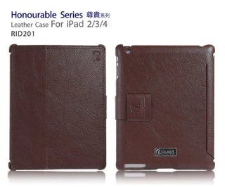 I CARER Honourable Series Genuine Leather Case for iPad 2 / iPad 3 (RID201) (Luxury Brown) Computers & Accessories