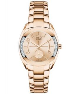ESQ Movado Watch, Womens Swiss Origin Rose Gold Ion Plated Stainless Steel Bracelet 36mm 07101402   Watches   Jewelry & Watches