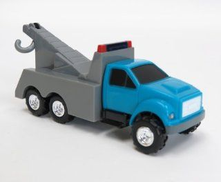(1/64th) Ertl Blue and Gray Tow Truck Toys & Games