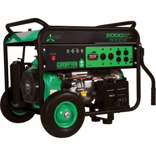 Champion Power Equipment Propane Generator with Electric Start — 6000 Surge Watts, 5000 Rated Watts, CARB-Compliant, Model# 71330  Portable Generators