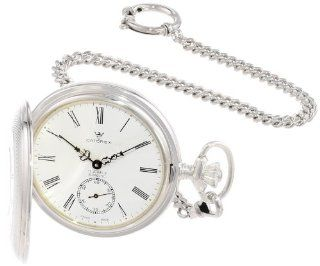 Catorex Men's 171.2.1642.110 Argent Massif 925 Sterling Silver Front Window Dial Pocket Watch: Watches
