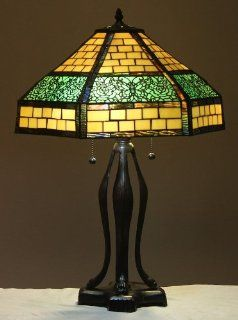 "Tiffany Style Stained Glass Table Lamp ""Woodland"" w/ 18"" Shade   Floor Lamps"