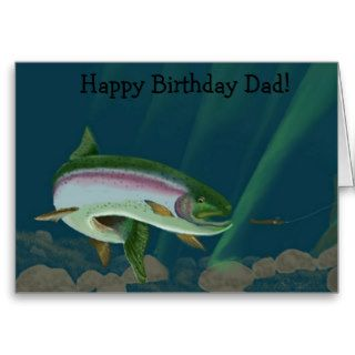 Rainbow Heaven Happy Birthday Dad Greeting Cards