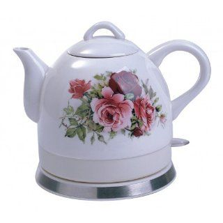 Electric Ceramic Kettle Teapot By Fixture Displays Sun Bright: Kitchen & Dining