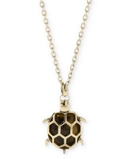 Fossil Necklace, Gold Tone Tortoise Turtle Pendant Necklace   Fashion Jewelry   Jewelry & Watches