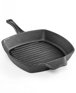 Calphalon Pre Seasoned Cast Iron 10 Square Grill Pan   Cookware   Kitchen