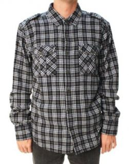 True Religion Brand Jeans Men's Plaid Flannel Military Shirt Navy $148.00 at  Men�s Clothing store