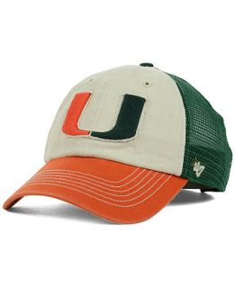 47 Brand Miami Hurricanes Schist Trucker Cap   Sports Fan Shop By Lids   Men