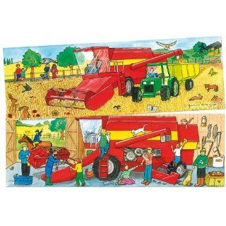 Bigjigs Toys BJ053 Duo Puzzle Combine Harvester: Toys & Games