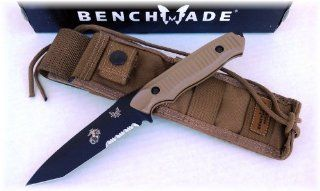 Benchmade 141 Nimravus Tanto Knife   USMC/EGA Marine Corps Edition   154CM Blade Steel   Molle Sheath   Coyote Colored Handle : Tactical Fixed Blade Knives : Sports & Outdoors