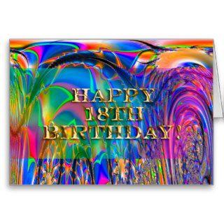 Happy 18th Birthday! Greeting Cards