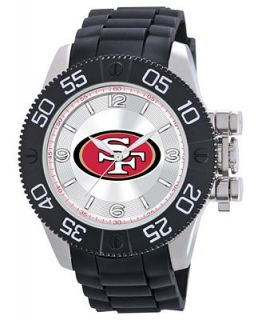Game Time Watch, Mens San Franciso 49ers Black Polyurethane Strap 47mm NFL BEA SF   Watches   Jewelry & Watches