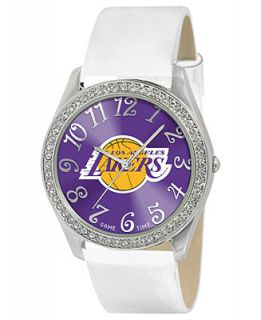 Game Time Watch, Womens Los Angeles Lakers White Leather Strap 40mm NBA GLI LAL   Watches   Jewelry & Watches