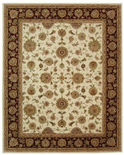 Persian Court Shah Abbasi PC123C Ivory / Red Oriental Rug Size: 5' x 8' Rectangle   Machine Made Rugs