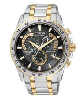 Seiko Watch, Mens Chronograph Coutura Two Tone Stainless Steel Bracelet 40mm SNAE56   Watches   Jewelry & Watches