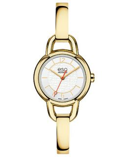 ESQ Movado Watch, Womens Swiss Status Gold Ion Plated Stainless Steel Bangle Bracelet 25mm 07101419   Watches   Jewelry & Watches