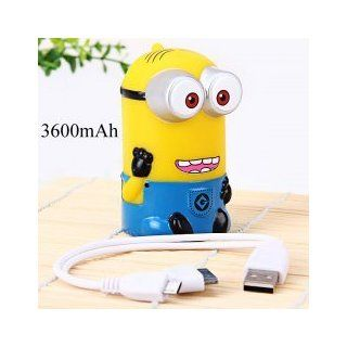 Despicable Me   Minion Power Bank 3600mAh External Battery with 2 in 1 Cable of 30 Pin, Micro 5 Pin Adapter for Samsung, Sony Ericsson, Blackberry, HTC, Nokia, LG, Motorola, Apple: Everything Else