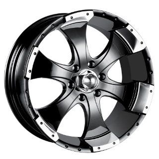 "Ion Alloy 136 Black Machined Wheel (15x6""/5x114.3mm): Automotive"