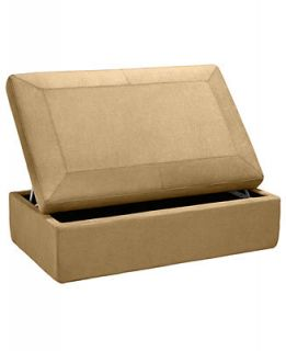 Ricardo Fabric Ottoman, Storage 47W x 30D x 17H   Furniture