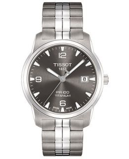 Tissot Watch, Mens Swiss PR 100 Anthracite Stainless Steel Bracelet T0494104406700   Watches   Jewelry & Watches