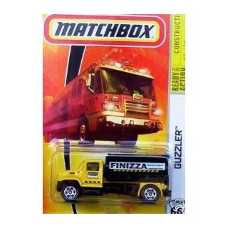 Mattel Matchbox 2008 MBX Construction 164 Scale Die Cast Metal Car # 66   Yellow Guzzler Water Tanker Truck with Black Tank Toys & Games
