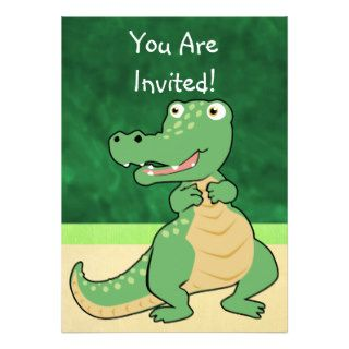 Cartoon Crocodile Invitation