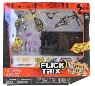 Flick Trix Finger Bike Eastern Bikes Bike Shop (Black and Yellow Bike Frames): Toys & Games