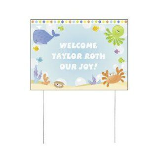 Personalized Under The Sea Boy Yard Sign   Baby Shower & Baby Shower Decorations: Health & Personal Care