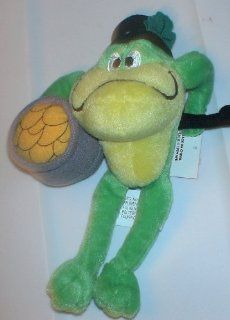 "Wb Store 1999 6"" Looney Tunes Bean Bag Plush Michigan J Frog St Patricks Day Toys & Games"