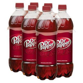Dr. Pepper Soda 24 oz, 6 pk