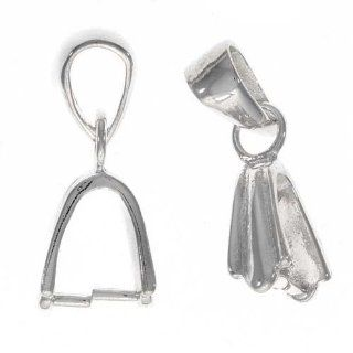 Sterling Silver Swinging 2 Part Pinch Bail for Pendant (1)