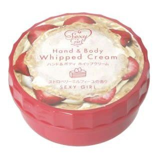 Sexy Girl Hand & Body Whipped Cream   Strawberry Mille feuille  Body Gels And Creams  Beauty