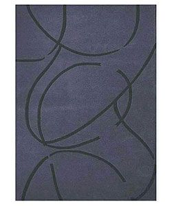 Hand tufted Archie Blue Wool Rug (5 X 8)