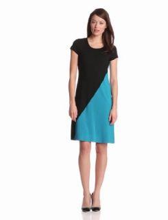 Karen Kane Women's Diagonal Colorblock Dress, Black/Blue, Small at  Women�s Clothing store