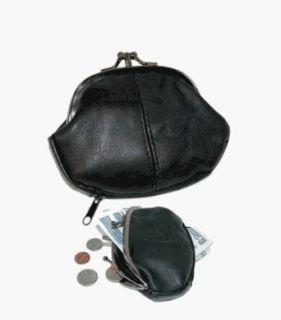 RETRO VOGUE   Twist Lock 3 Pocket   Leather Coin Purse by Eli Clothing